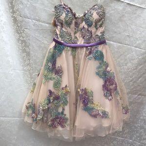 Terani strapless dress size 4 NWT